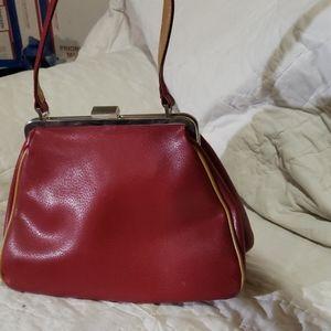 Vintage red leather bag